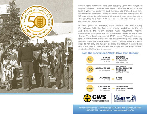 50th Anniversary Bulletin Insert
